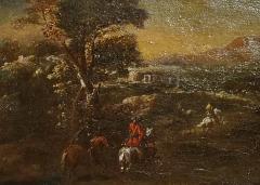Adam Frans van der Meulen AFTER Horseback Riding an Oil Painting After Adam Frans Van Der Meulen - 1177723