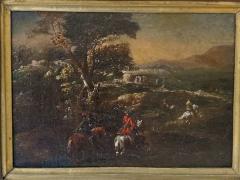 Adam Frans van der Meulen AFTER Horseback Riding an Oil Painting After Adam Frans Van Der Meulen - 1177727