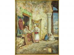 Addison Thomas Millar A Fine Orientalist Painting of a Sword Merchant - 1471787