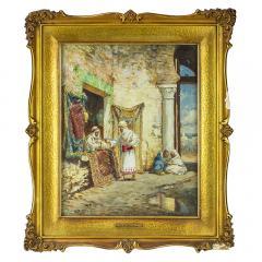 Addison Thomas Millar A Fine Orientalist Painting of a Sword Merchant - 1471788
