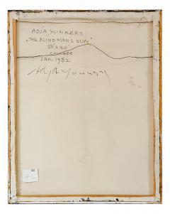 Adja Yunkers Adja Yunkers Painting Blind Man Sun USA 1982 - 548576