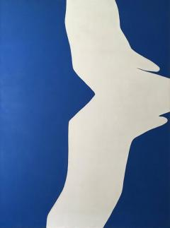 Adja Yunkers Blue on White IV Acrylic Collage by Adja Yunkers 1969 - 347834