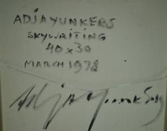 Adja Yunkers Skywriting Acrylic Painting by Adja Yunkers 1978 - 1665419