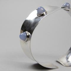 Ado Chale A Silver and blue tourmaline cuff band - 1150993