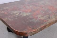 Ado Chale Huge Copper and Wood Coffee Table Attributed to Ado Chale - 546511