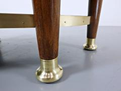 Adolf Loos Art Nouveau Table In The Style Of Adolf Loos Wood And Brass - 1813667