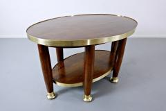 Adolf Loos Art Nouveau Table In The Style Of Adolf Loos Wood And Brass - 1813668