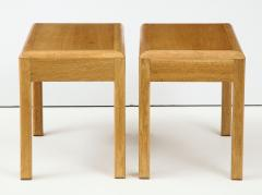 Adolphe Chanaux Rare Adolphe Chanaux Waxed Oak Occasional Tables - 1224010