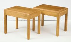 Adolphe Chanaux Rare Adolphe Chanaux Waxed Oak Occasional Tables - 1224013