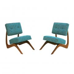 Adrian Pearsall Adrian Pearsall Mid Century Modern Walnut Pair of American Lounge Chairs - 1544875