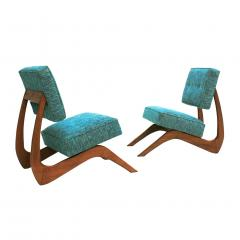 Adrian Pearsall Adrian Pearsall Mid Century Modern Walnut Pair of American Lounge Chairs - 1544876