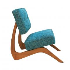 Adrian Pearsall Adrian Pearsall Mid Century Modern Walnut Pair of American Lounge Chairs - 1544884