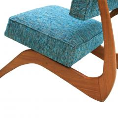Adrian Pearsall Adrian Pearsall Mid Century Modern Walnut Pair of American Lounge Chairs - 1544886