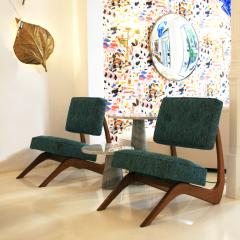 Adrian Pearsall Adrian Pearsall Mid Century Modern Walnut Pair of American Lounge Chairs - 1544889