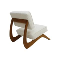 Adrian Pearsall Adrian Pearsall Mid Century Modern Walnut Pair of American Lounge Chairs - 2026660