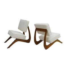 Adrian Pearsall Adrian Pearsall Mid Century Modern Walnut Pair of American Lounge Chairs - 2026661