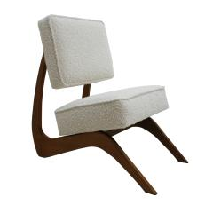 Adrian Pearsall Adrian Pearsall Mid Century Modern Walnut Pair of American Lounge Chairs - 2026662