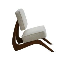 Adrian Pearsall Adrian Pearsall Mid Century Modern Walnut Pair of American Lounge Chairs - 2026664