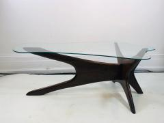 Adrian Pearsall Adrian Persall Midcentury Modern Coffee Table with Glass Top - 1143109