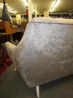 Adrian Pearsall Amazing Regency Modern Silver Grey Velvet Tufted Sofa Mid Century Modern - 1796231