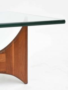 Adrian Pearsall American Modern Pair of Walnut and Glass Low Tables by Adrian Pearsall - 42526