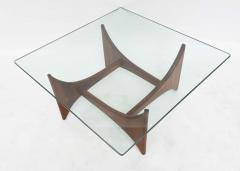 Adrian Pearsall American Modern Pair of Walnut and Glass Low Tables by Adrian Pearsall - 42527