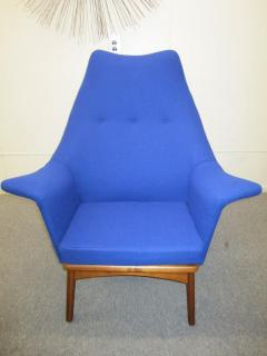 Adrian Pearsall Excellent Adrian Pearsall Sculptural Walnut Wingback Lounge Chair Mid Century - 1307580