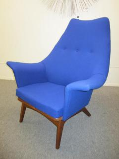Adrian Pearsall Excellent Adrian Pearsall Sculptural Walnut Wingback Lounge Chair Mid Century - 1307582