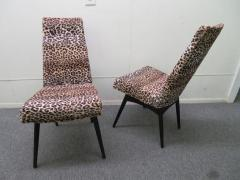Adrian Pearsall Fantastic Set Four Adrian Pearsall Lacquered Dining Chairs Mid Century Modern - 1307529