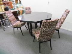 Adrian Pearsall Fantastic Set Four Adrian Pearsall Lacquered Dining Chairs Mid Century Modern - 1307531
