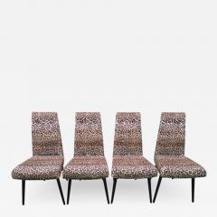 Adrian Pearsall Fantastic Set Four Adrian Pearsall Lacquered Dining Chairs Mid Century Modern - 1310352