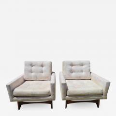 Adrian Pearsall Handsome Pair of Adrian Pearsall Lounge Chairs for Craft Associates Inc  - 1298620