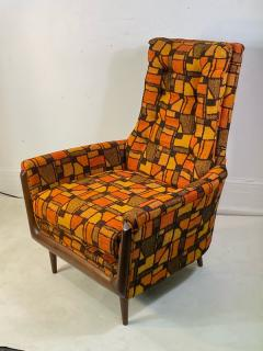 Adrian Pearsall MID CENTURY ADRIAN PEARSALL LOUNGE CHAIR AND OTTOMAN WITH ORIGINAL MOD FABRIC - 1573959