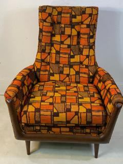 Adrian Pearsall MID CENTURY ADRIAN PEARSALL LOUNGE CHAIR AND OTTOMAN WITH ORIGINAL MOD FABRIC - 1573960