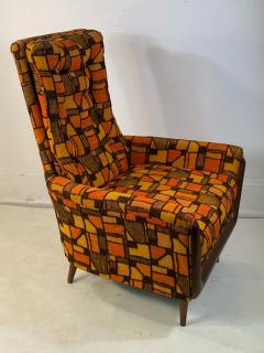 Adrian Pearsall MID CENTURY ADRIAN PEARSALL LOUNGE CHAIR AND OTTOMAN WITH ORIGINAL MOD FABRIC - 1573962
