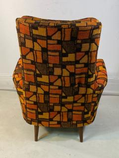 Adrian Pearsall MID CENTURY ADRIAN PEARSALL LOUNGE CHAIR AND OTTOMAN WITH ORIGINAL MOD FABRIC - 1573963