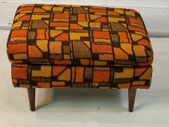 Adrian Pearsall MID CENTURY ADRIAN PEARSALL LOUNGE CHAIR AND OTTOMAN WITH ORIGINAL MOD FABRIC - 1573964