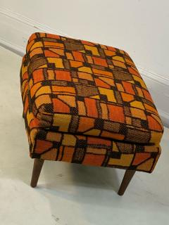 Adrian Pearsall MID CENTURY ADRIAN PEARSALL LOUNGE CHAIR AND OTTOMAN WITH ORIGINAL MOD FABRIC - 1573965