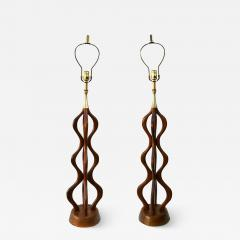 Adrian Pearsall Mid Century Danish Modern Large Sculptural Table Lamps Attrib Adrian Pearsall - 1798652