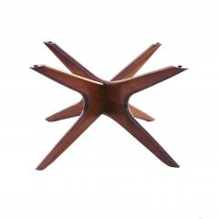 Adrian Pearsall Mid Century Modern Sculpted Glass Top Cocktail Coffee Table by Adrian Pearsall - 1890772