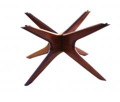 Adrian Pearsall Mid Century Modern Sculpted Glass Top Cocktail Coffee Table by Adrian Pearsall - 1890774