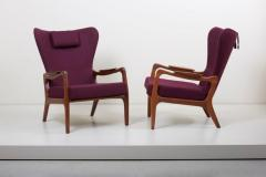 Adrian Pearsall Newly Restored Pair of High Back Wing Lounge Chairs by Adrian Pearsall 1950s - 1128477
