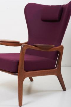 Adrian Pearsall Newly Restored Pair of High Back Wing Lounge Chairs by Adrian Pearsall 1950s - 1128480
