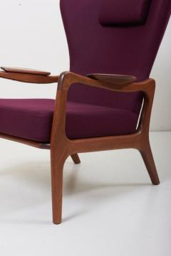 Adrian Pearsall Newly Restored Pair of High Back Wing Lounge Chairs by Adrian Pearsall 1950s - 1128482