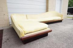 Adrian Pearsall Outstanding Adrian Pearsall Two Piece Curved Sofa Sectional Mid Century Modern - 1020403