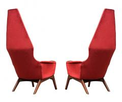 Adrian Pearsall Pair Mid Century Modern Sculptural High Back Lounge Chairs by Adrian Pearsall - 2058958
