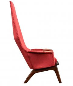 Adrian Pearsall Pair Mid Century Modern Sculptural High Back Lounge Chairs by Adrian Pearsall - 2058966