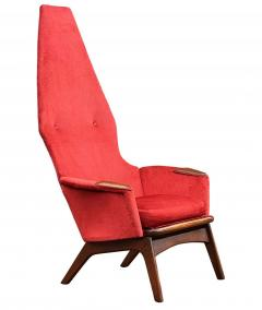 Adrian Pearsall Pair Mid Century Modern Sculptural High Back Lounge Chairs by Adrian Pearsall - 2058968