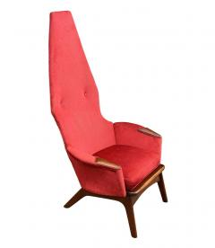 Adrian Pearsall Pair Mid Century Modern Sculptural High Back Lounge Chairs by Adrian Pearsall - 2058969