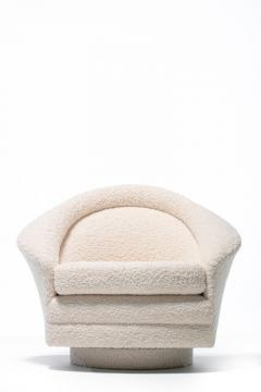 Adrian Pearsall Pair of Adrian Pearsall Mom Pop Swivel Lounge Chairs in Ivory Boucl  - 1882721